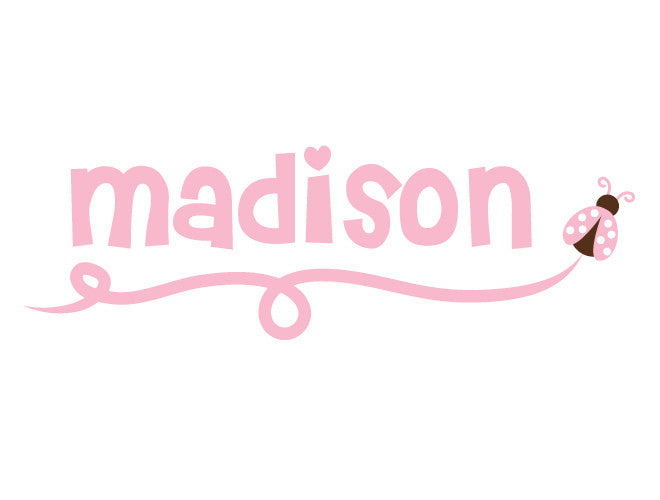 Personalized Ladybug Wall Decal