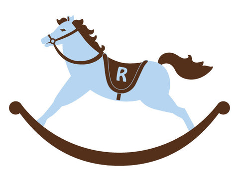 Personalized Rocking Horse Wall Decal