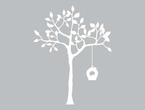 Tree and Bird Feeder Wall Decal