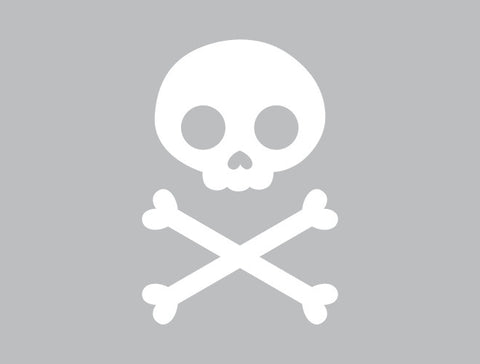 Halloween Skull and Crossbones Wall Decal