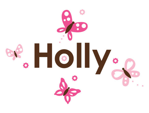 Personalized Butterfly Delight Wall Decal
