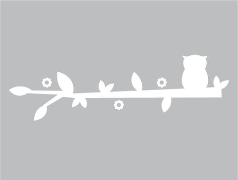 Solo Owl Branch Wall Decal