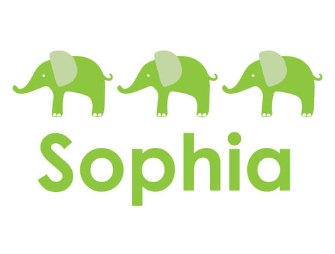 Personalized Elephant Parade Wall Decal - Girl