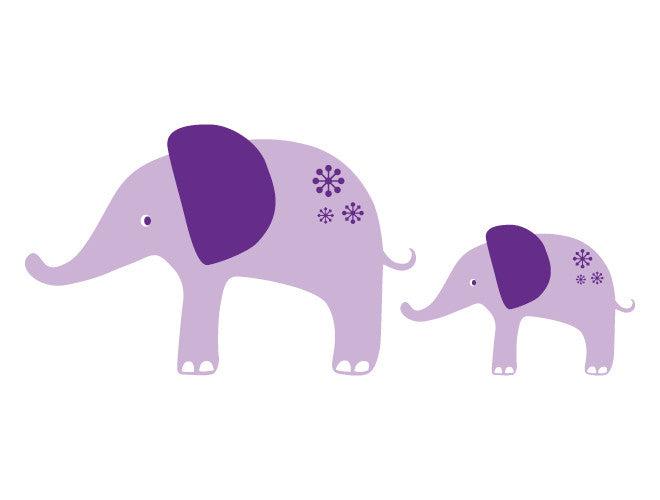Whimsy Elephants Wall Decal