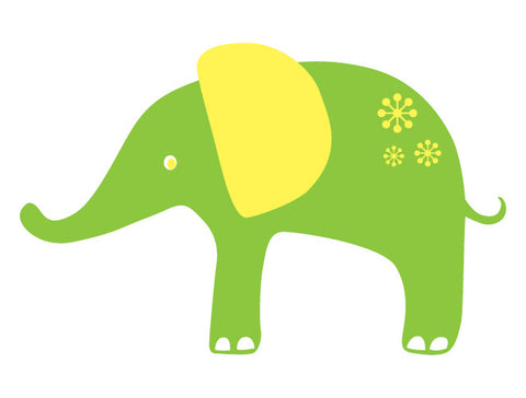 Whimsy Elephant Wall Decal