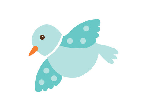Polka Dot Flying Bird Wall Decal