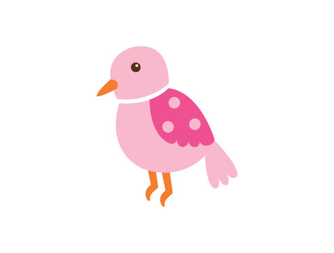 Polka Dot Bird Wall Decal