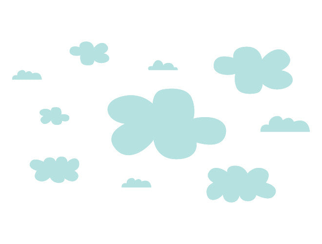 Floating Clouds Wall Decal – weeDECOR