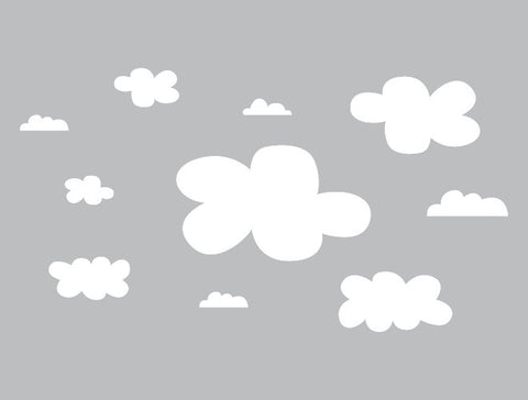Floating Clouds Wall Decal