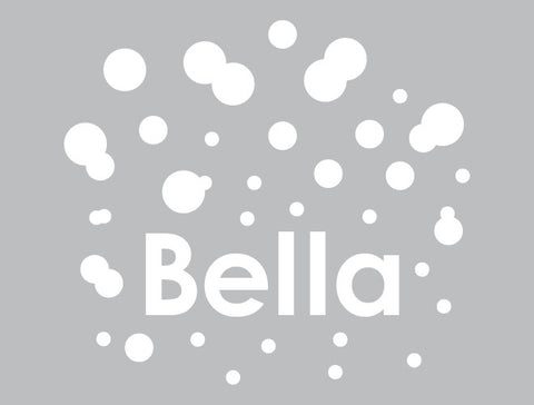 Personalized Polka Dot Wall Decal