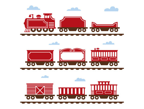 Classic Train Set Wall Decal