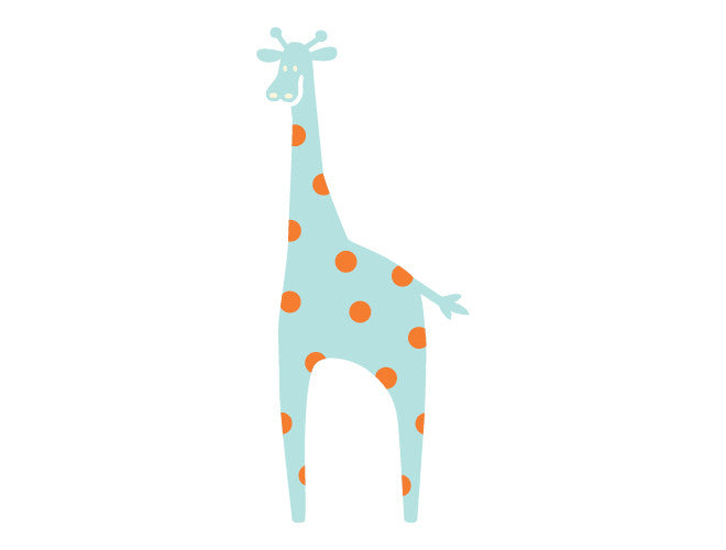 Polka Dot Giraffe Wall Decal