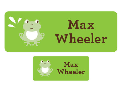 Frog Personalized Labels