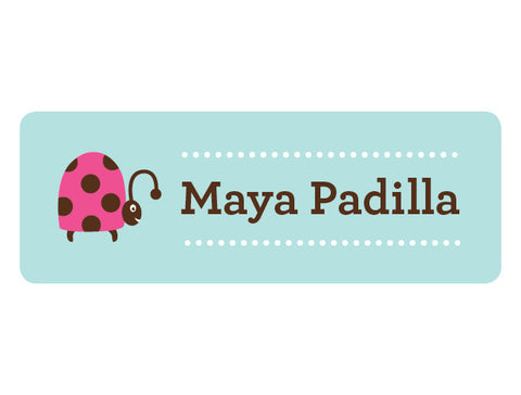 Ladybug Personalized Labels
