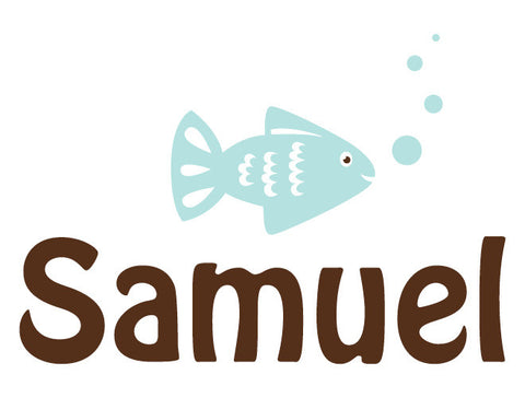 Personalized Fish Wall Decal