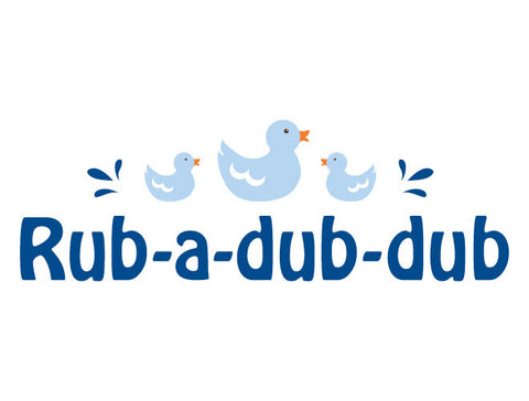 Rub-a-Dub-Dub Wall Decal Quote