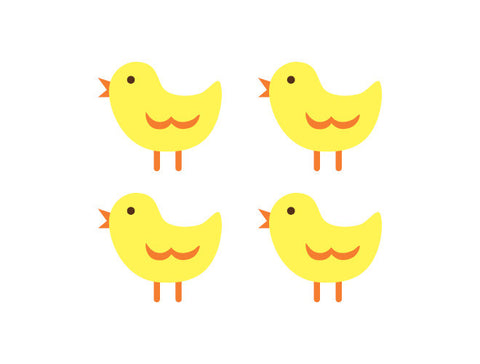 Chick Wall Decals
