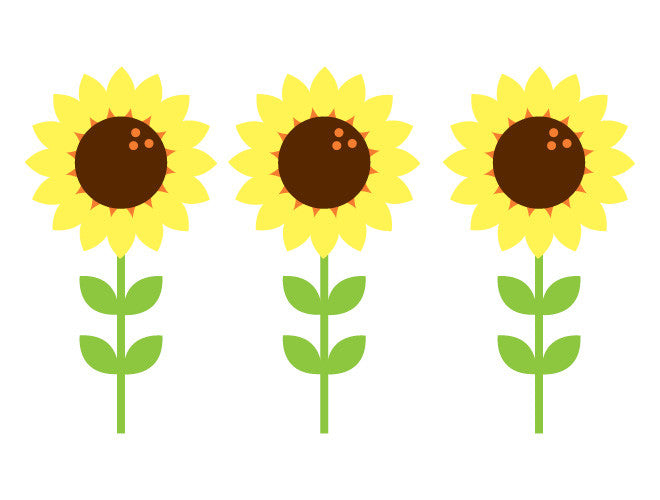 Classic Sunflower Wall Decals