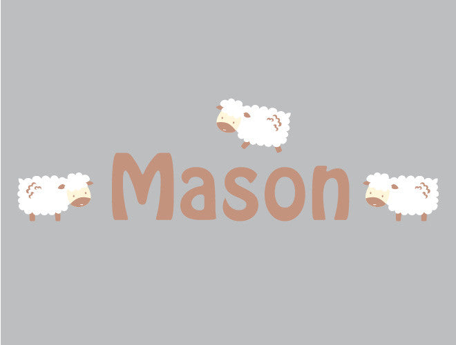 Personalized Lamb Wall Decal