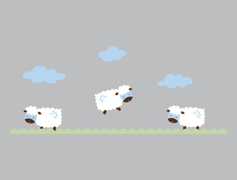 Jumping Sheep Wall Decal