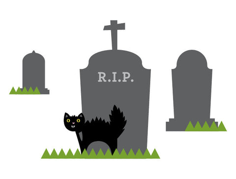 Halloween Graveyard Wall Decal