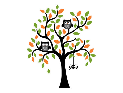 Halloween Tree Wall Decal