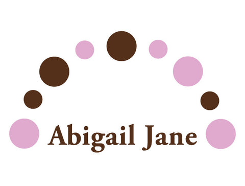 Personalized Dots Arch Wall Decal