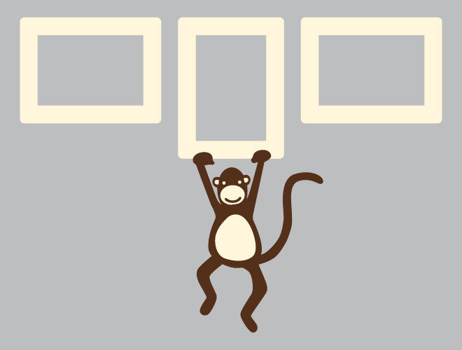 monkey frame wall decal set - Monkey Picture Frame