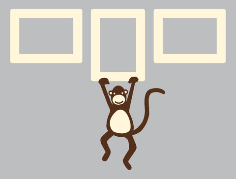 Monkey Frame Wall Decal Set