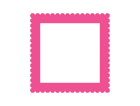 Fancy Square Frame Wall Decal