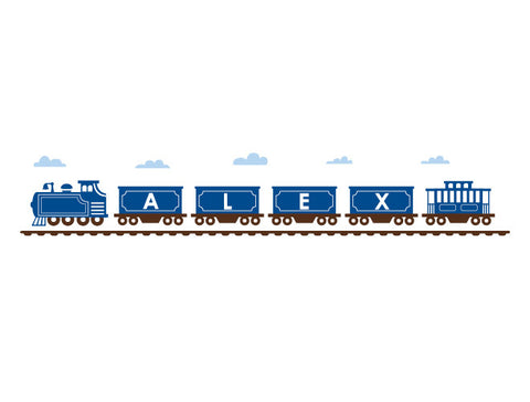 Personalized Classic Train Wall Decal