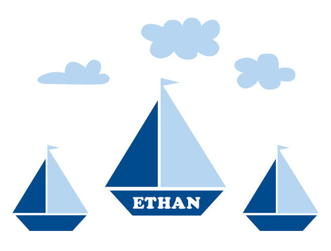 Premium Personalized Boat Wall Decal