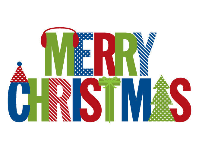 Modern Merry Christmas Wall Decal
