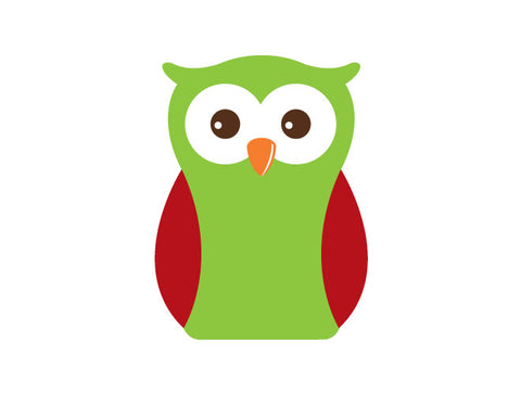 Holiday Modern Owl Wall Decal