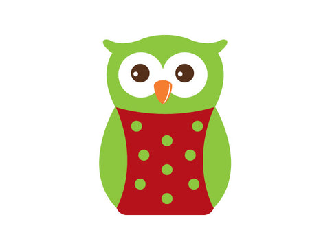 Holiday Polka Dot Owl Wall Decal