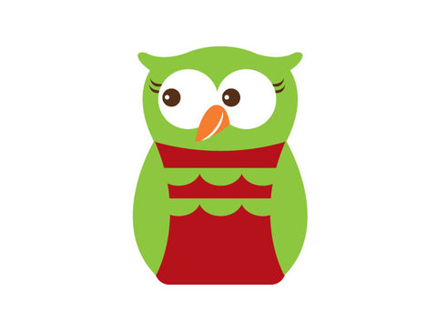 Holiday Girl Owl Wall Decal