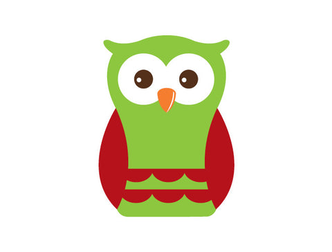Holiday Boy Owl Wall Decal