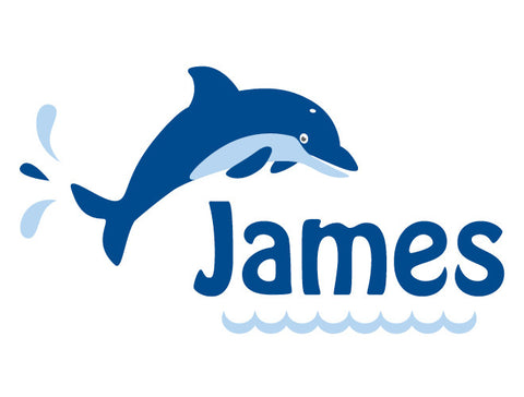 Personalized Dolphin Wall Decal - Boy