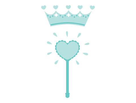 Princess Crown and Wand Wall Decal
