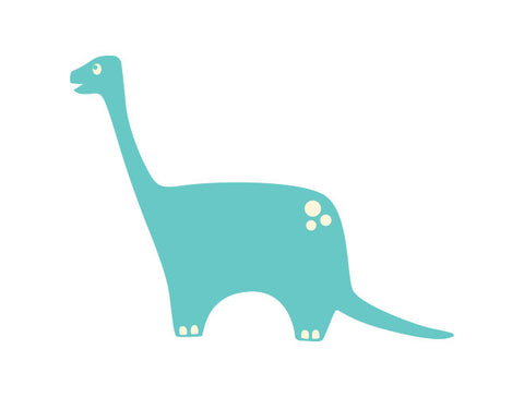 Brontosaurus Dinosaur Wall Decal