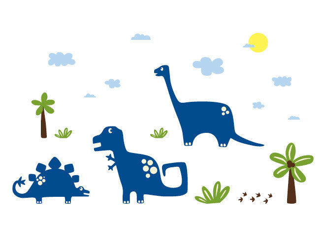 Dinosaur Mural Wall Decal