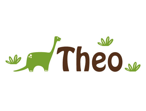 Personalized Brontosaurus Wall Decal