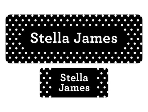 Polka Dot Personalized Labels