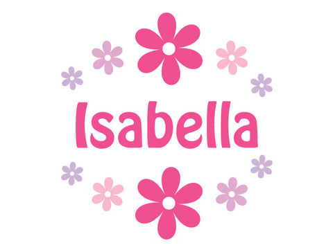 Personalized Flower Bouquet Wall Decal