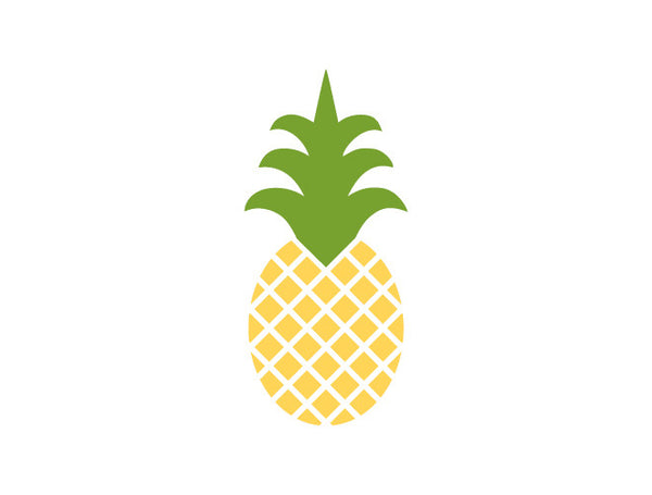 Pineapples Wall Decal Weedecor
