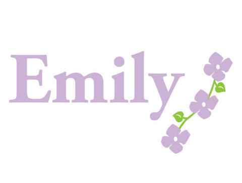 Personalized Flower Vine Wall Decal