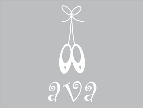 Personalized Ballet Wall Decal