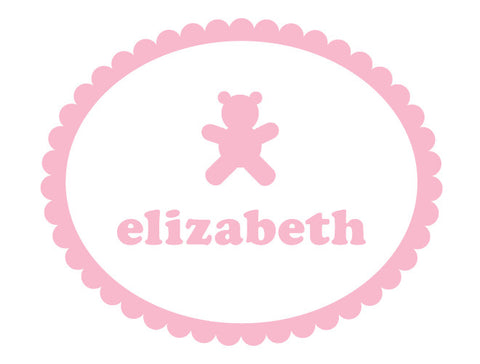 Personalized Bear Wall Decal