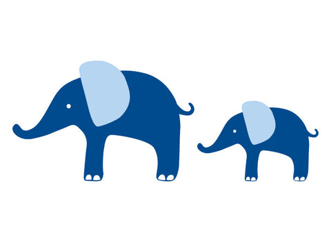 Modern Elephants Wall Decal