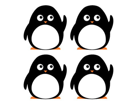 Penguin Parade Wall Decal